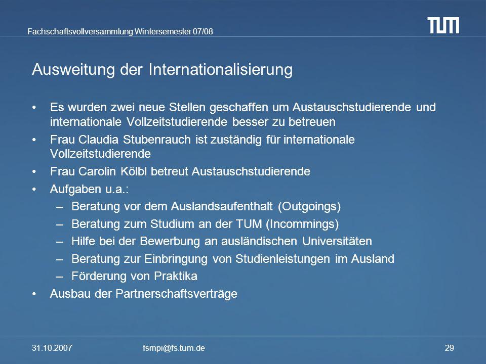 Ausweitung der Internationalisierung