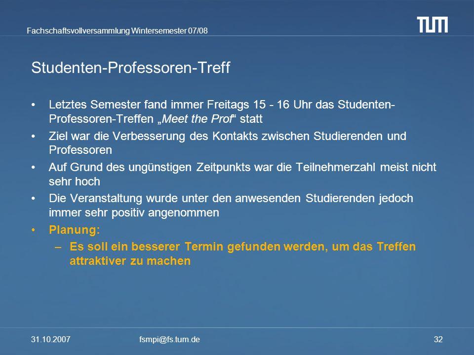 Studenten-Professoren-Treff