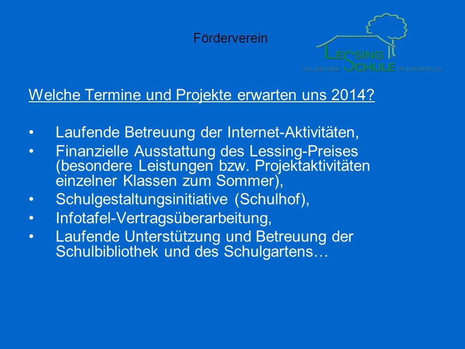 Welche Termine und Projekte erwarten uns 2014