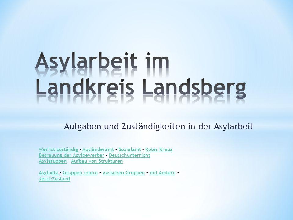 Asylarbeit im Landkreis Landsberg