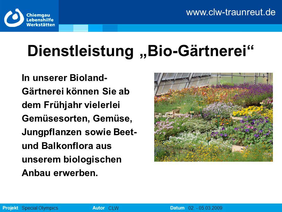 """Dienstleistung """"Bio-Gärtnerei"""