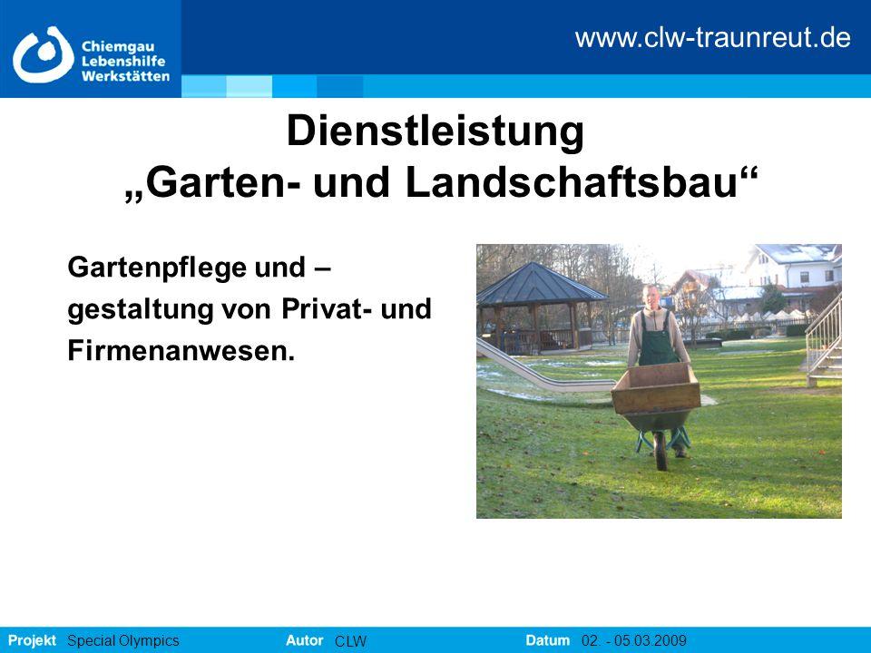"""Dienstleistung """"Garten- und Landschaftsbau"""