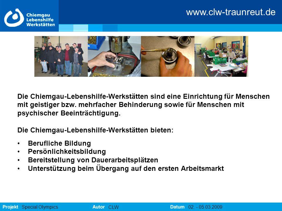 Die Chiemgau-Lebenshilfe-Werkstätten sind eine Einrichtung für Menschen
