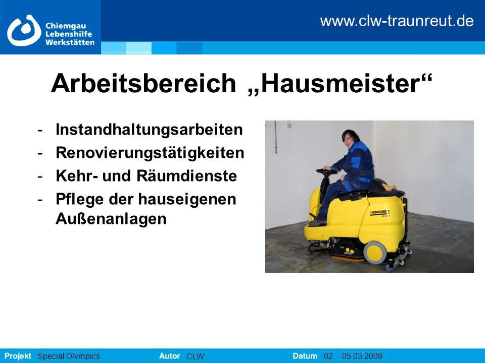 """Arbeitsbereich """"Hausmeister"""