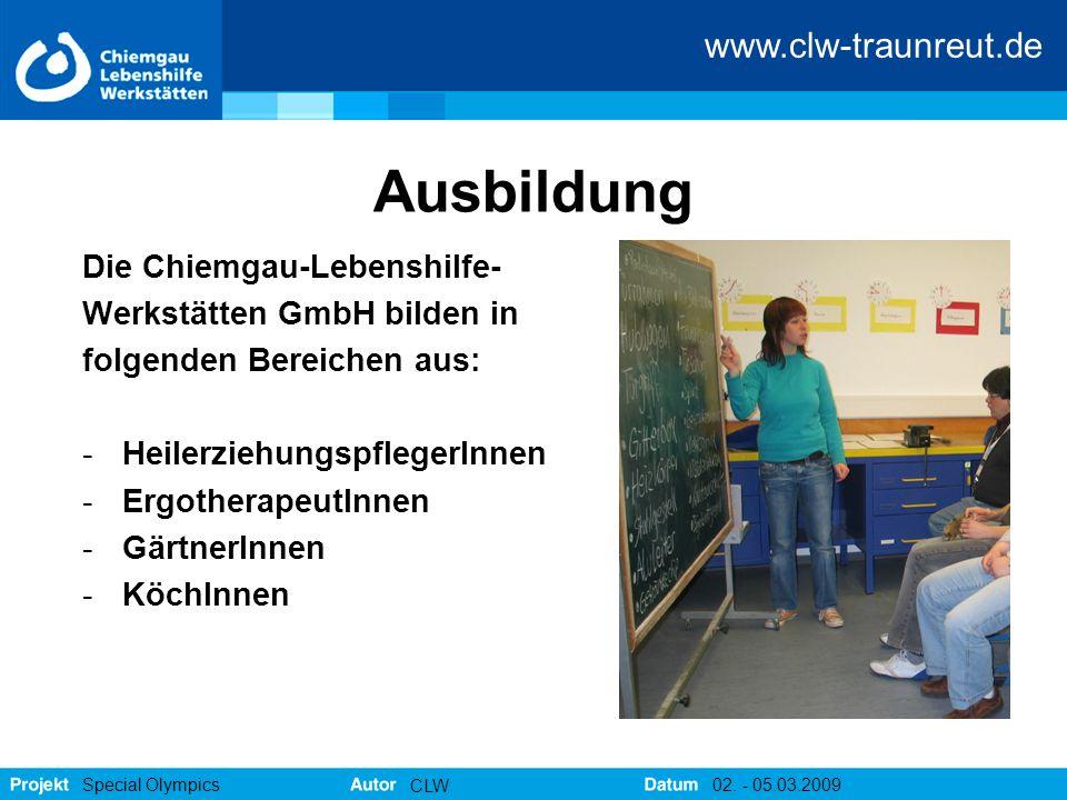 Ausbildung Die Chiemgau-Lebenshilfe- Werkstätten GmbH bilden in