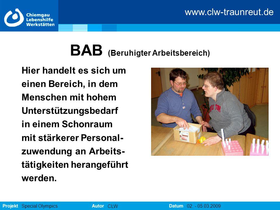 BAB (Beruhigter Arbeitsbereich)