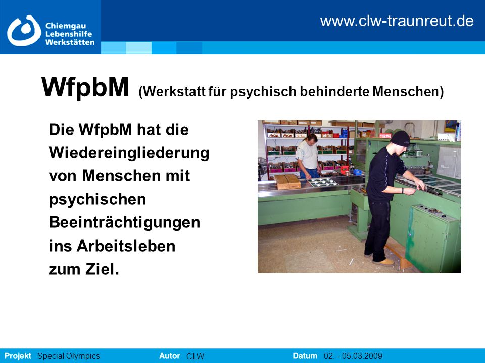 WfpbM (Werkstatt für psychisch behinderte Menschen)