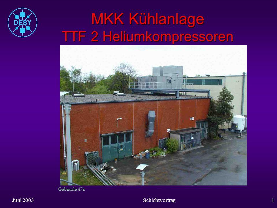 MKK Kühlanlage TTF 2 Heliumkompressoren