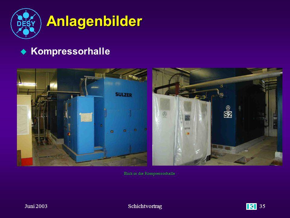 Anlagenbilder Kompressorhalle Juni 2003 Schichtvortrag