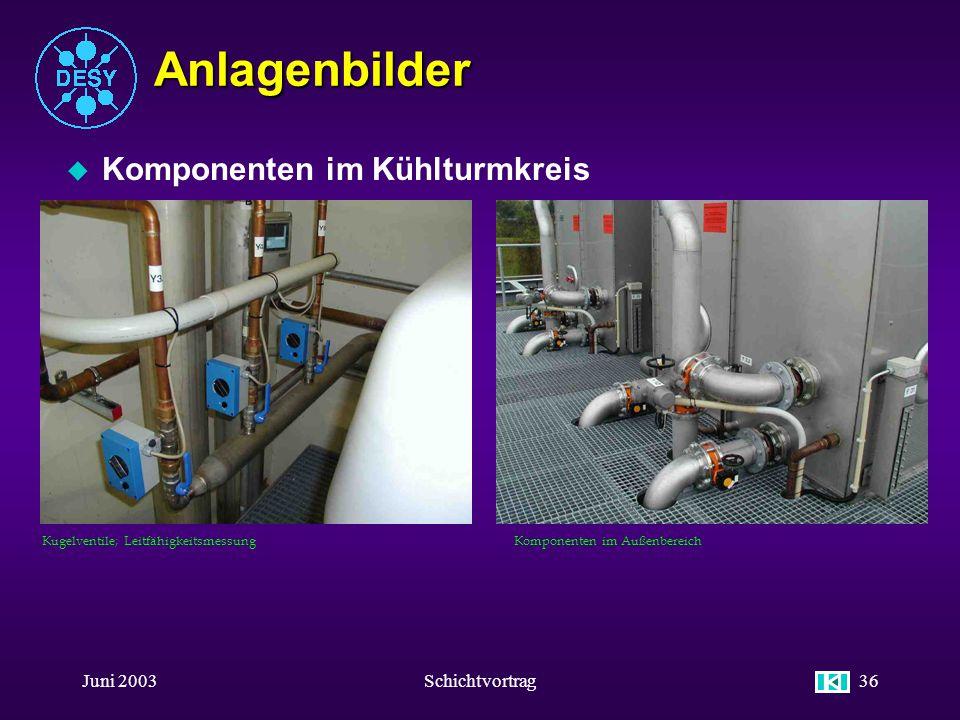 Anlagenbilder Komponenten im Kühlturmkreis Juni 2003 Schichtvortrag