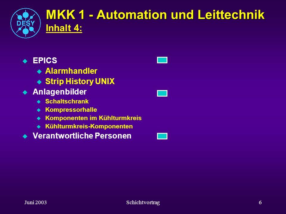 MKK 1 - Automation und Leittechnik Inhalt 4: