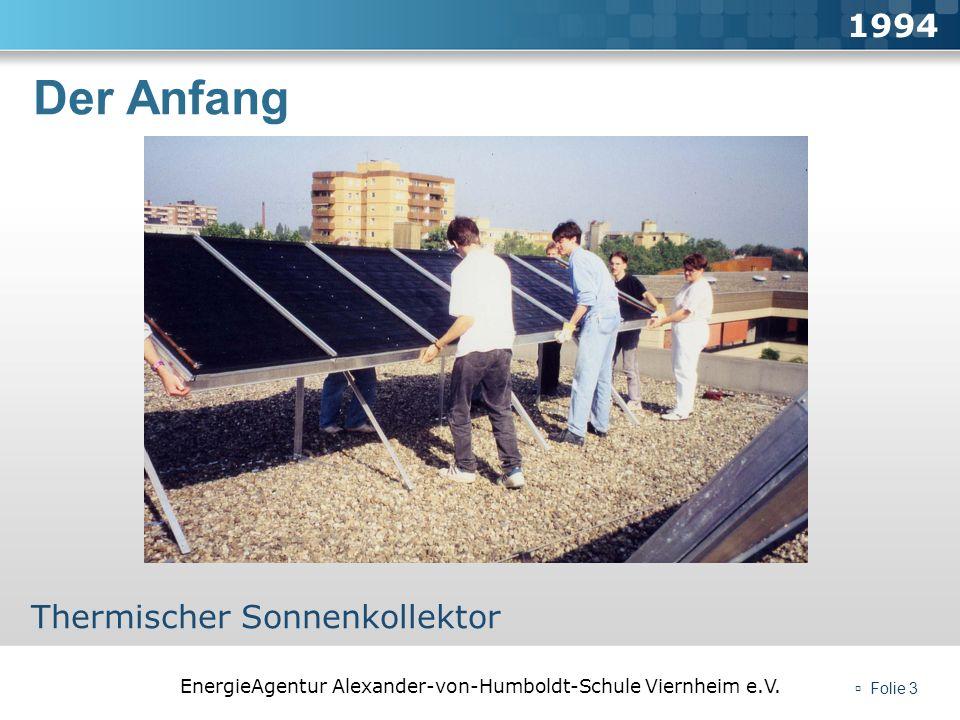 1994 Der Anfang Thermischer Sonnenkollektor  Folie 3