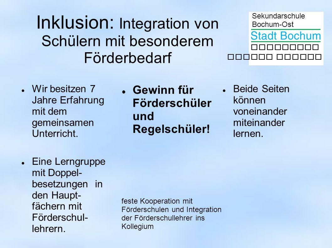 Inklusion: Integration von Schülern mit besonderem Förderbedarf