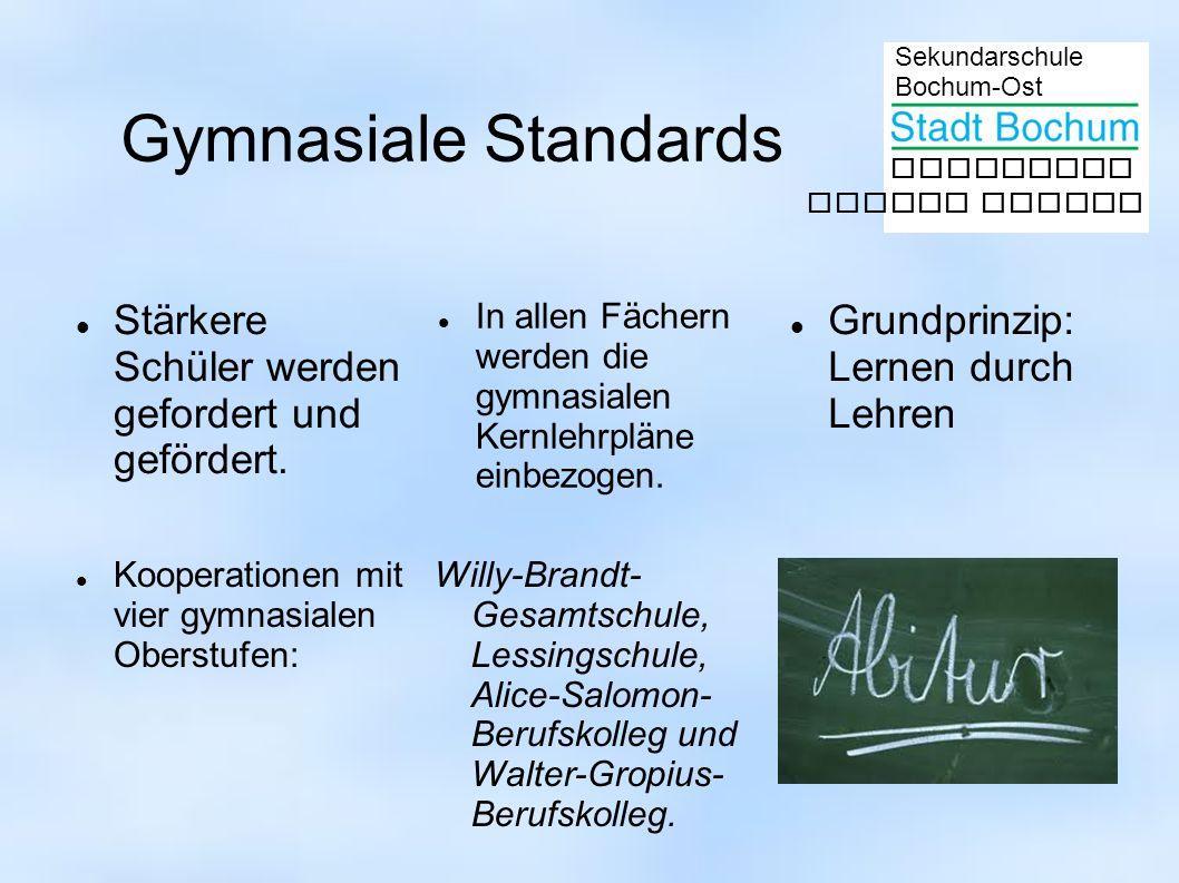 Gymnasiale Standards Stärkere Schüler werden gefordert und gefördert.