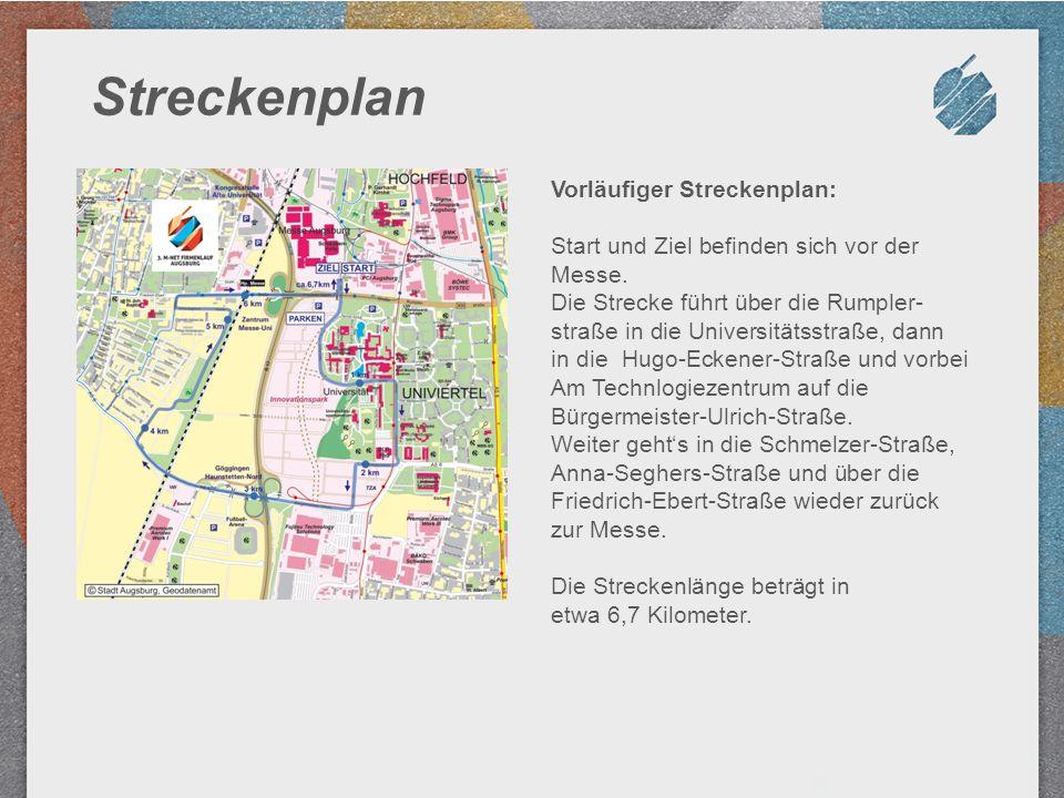 Streckenplan Vorläufiger Streckenplan: