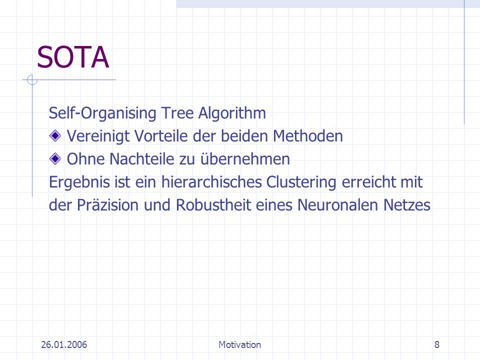 SOTA Self-Organising Tree Algorithm
