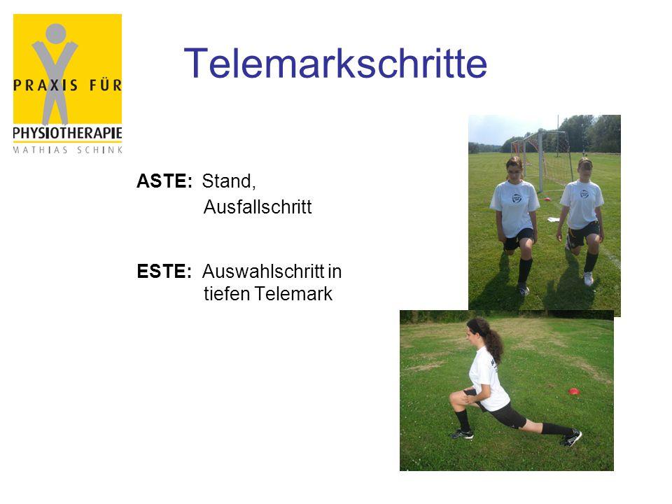 Telemarkschritte ASTE: Stand, Ausfallschritt