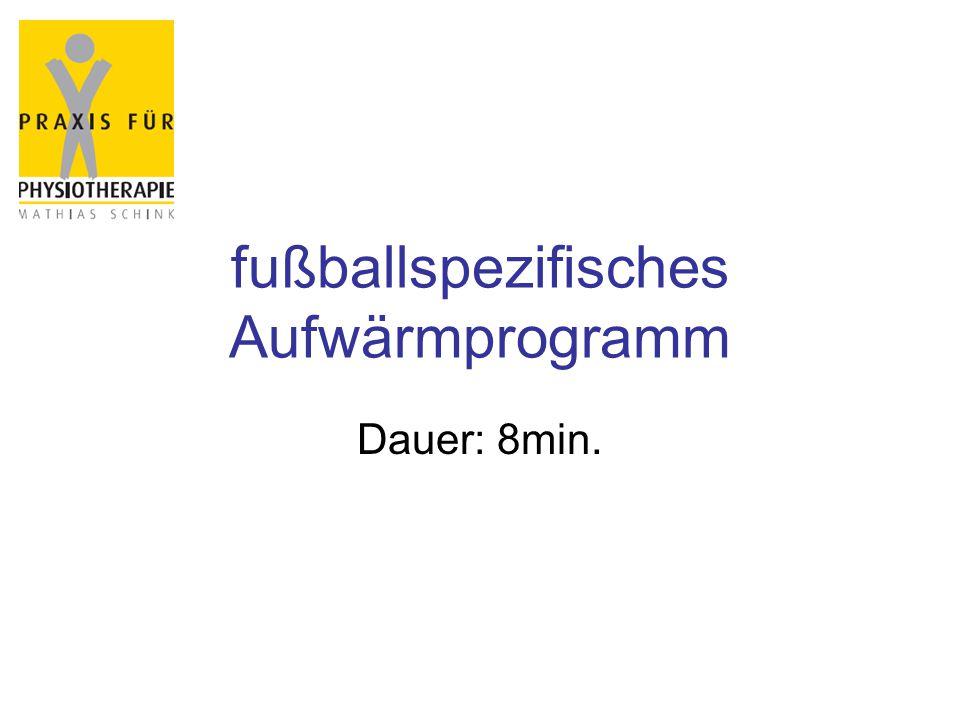 fußballspezifisches Aufwärmprogramm