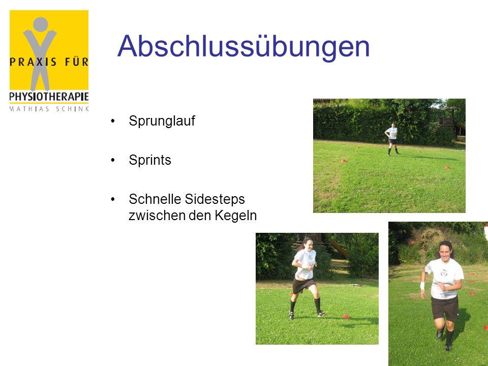 Abschlussübungen Sprunglauf Sprints