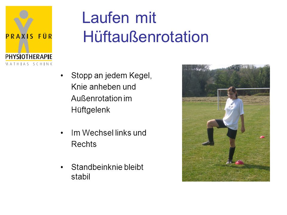 Laufen mit Hüftaußenrotation
