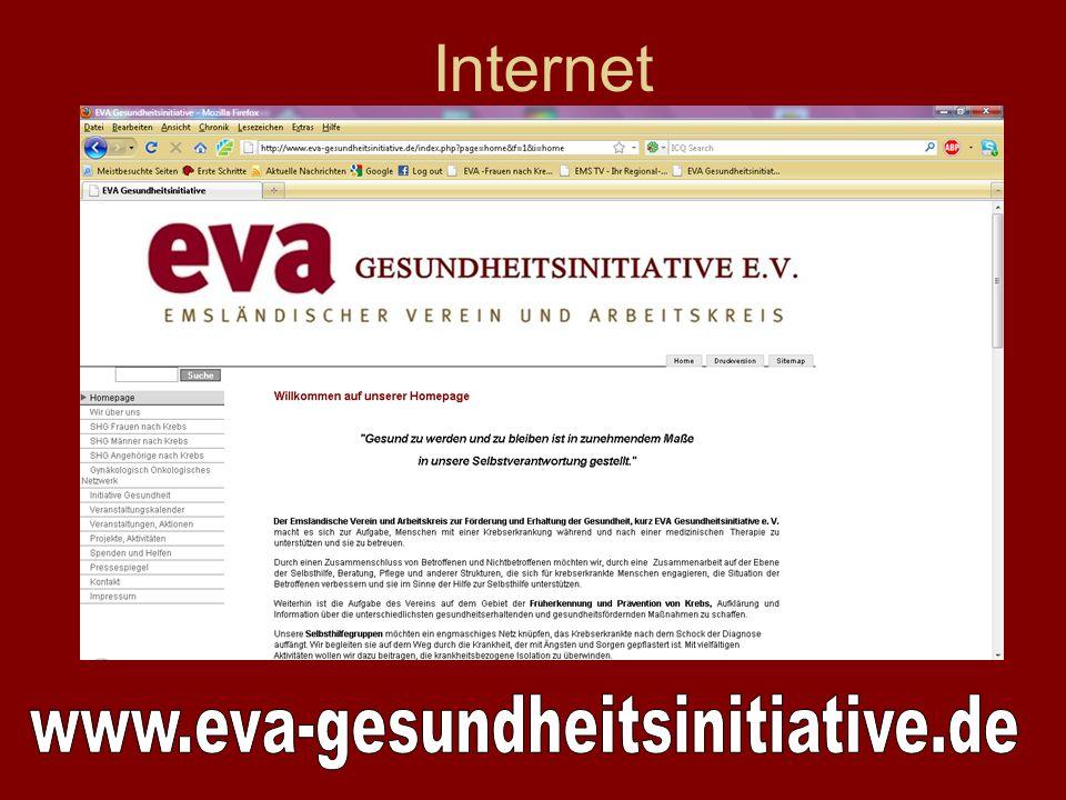 Internet www.eva-gesundheitsinitiative.de