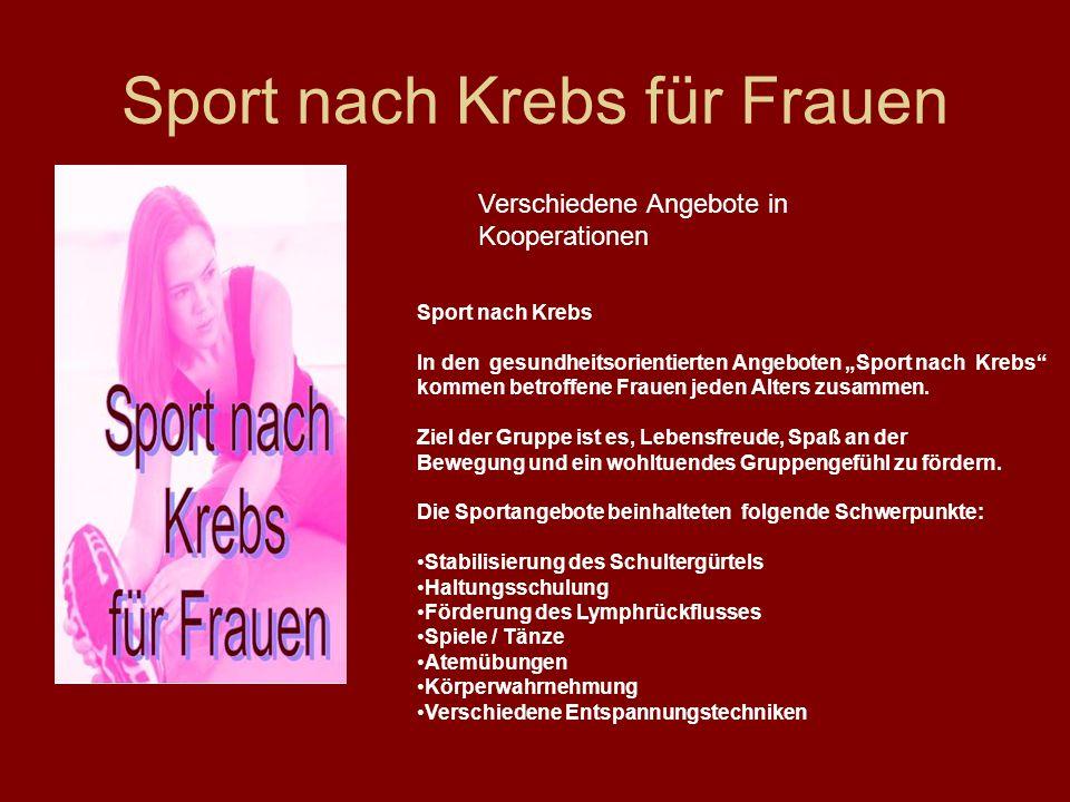 Sport nach Krebs für Frauen