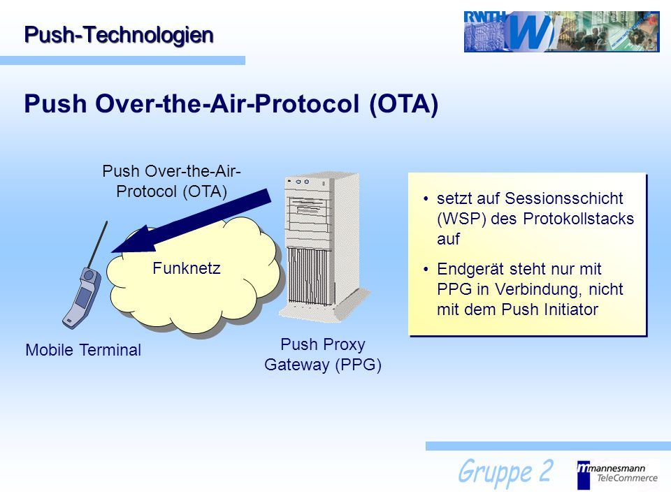Push Over-the-Air-Protocol (OTA)