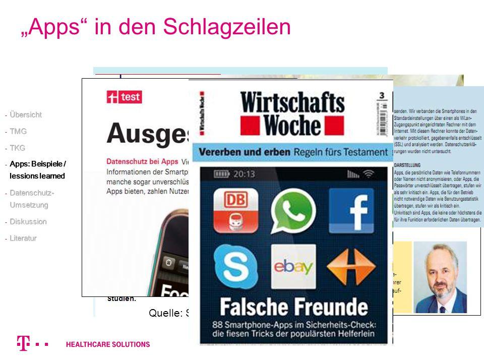"""""""Apps in den Schlagzeilen"""