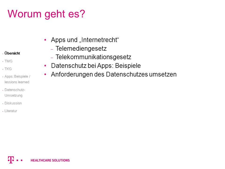 """Worum geht es Apps und """"Internetrecht Telemediengesetz"""