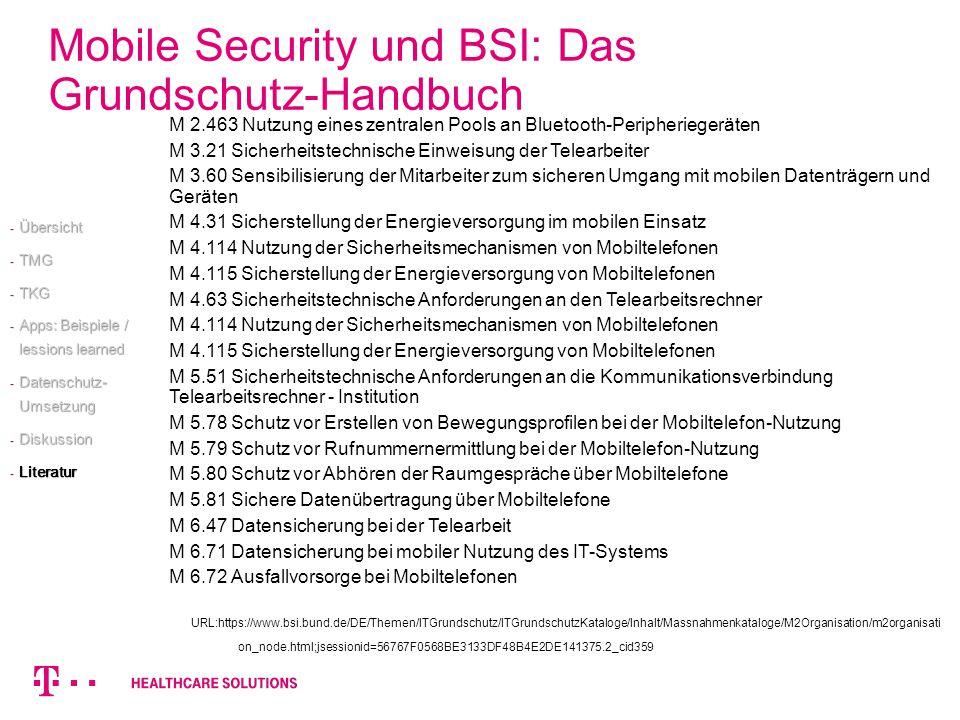 Mobile Security und BSI: Das Grundschutz-Handbuch