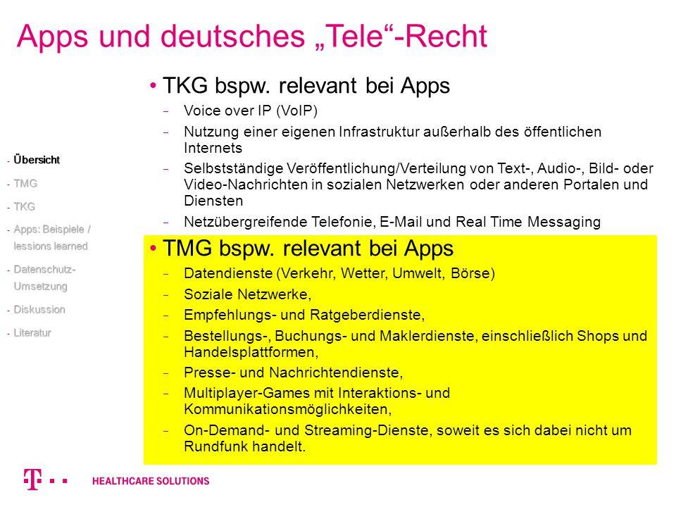 """Apps und deutsches """"Tele -Recht"""