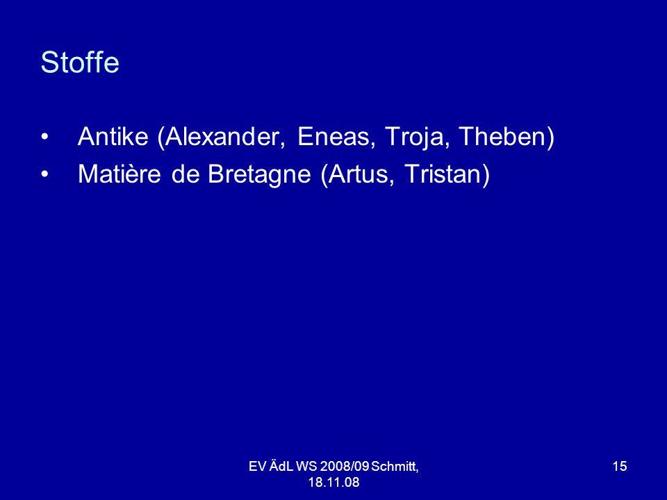 Stoffe Antike (Alexander, Eneas, Troja, Theben)