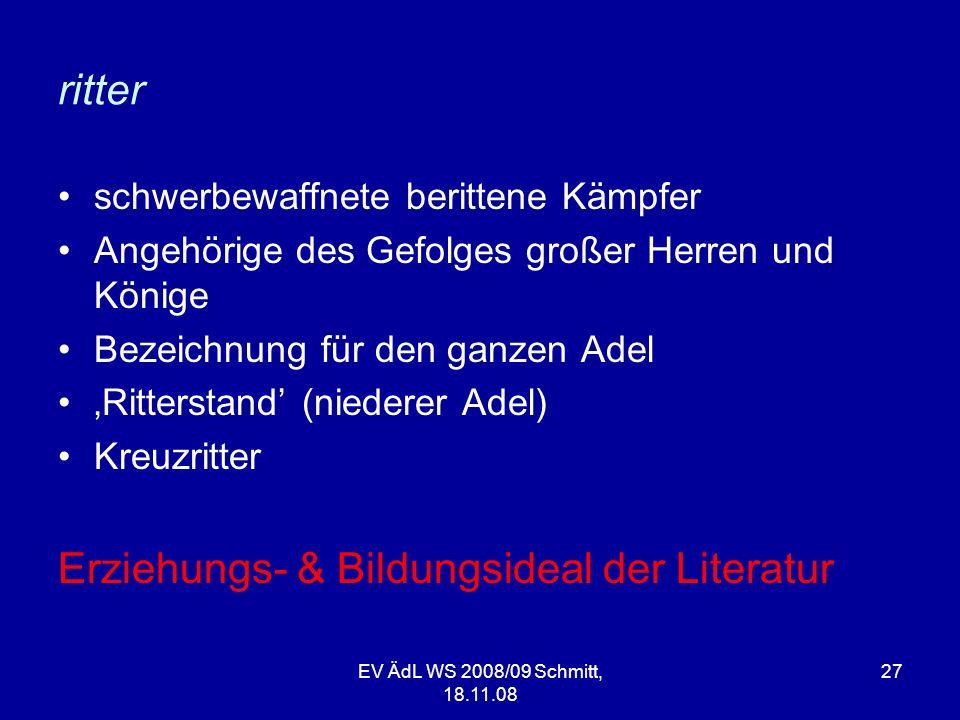 Erziehungs- & Bildungsideal der Literatur