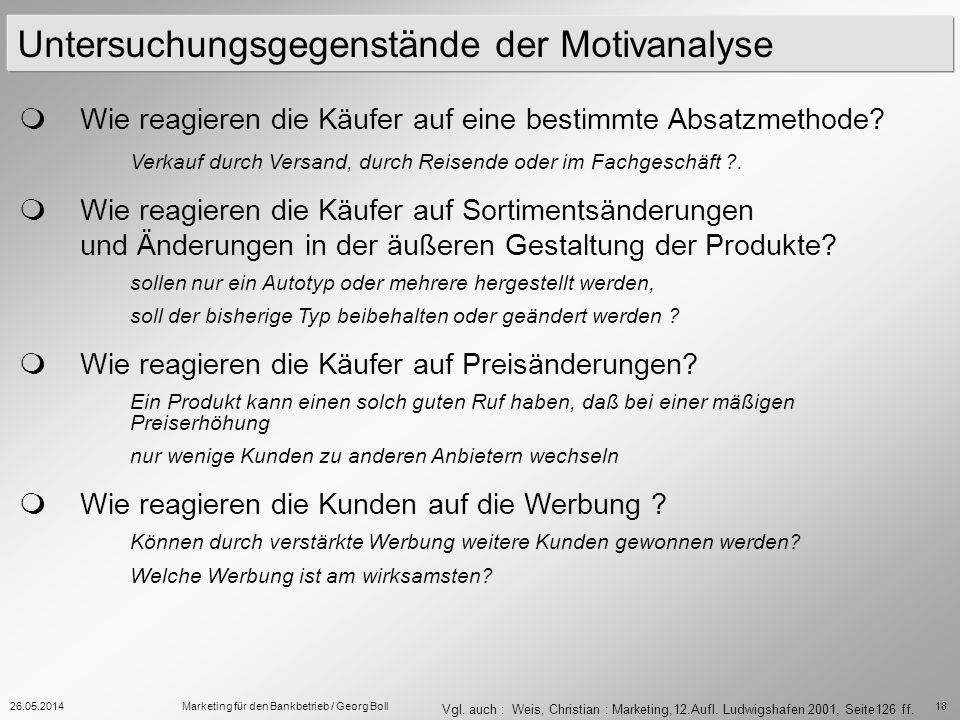 Untersuchungsgegenstände der Motivanalyse