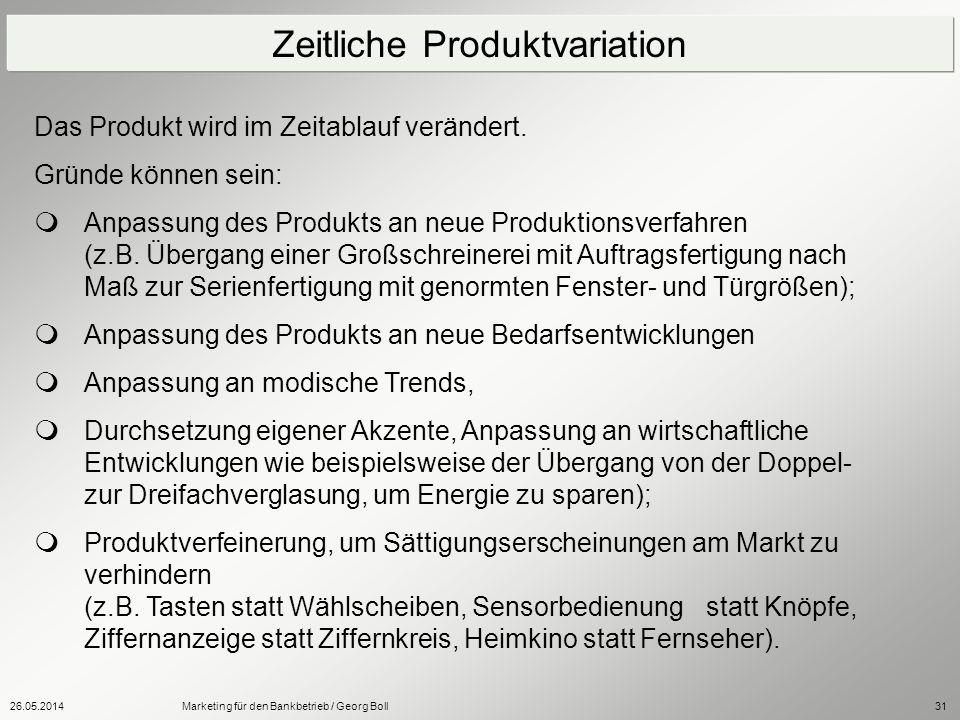 Zeitliche Produktvariation