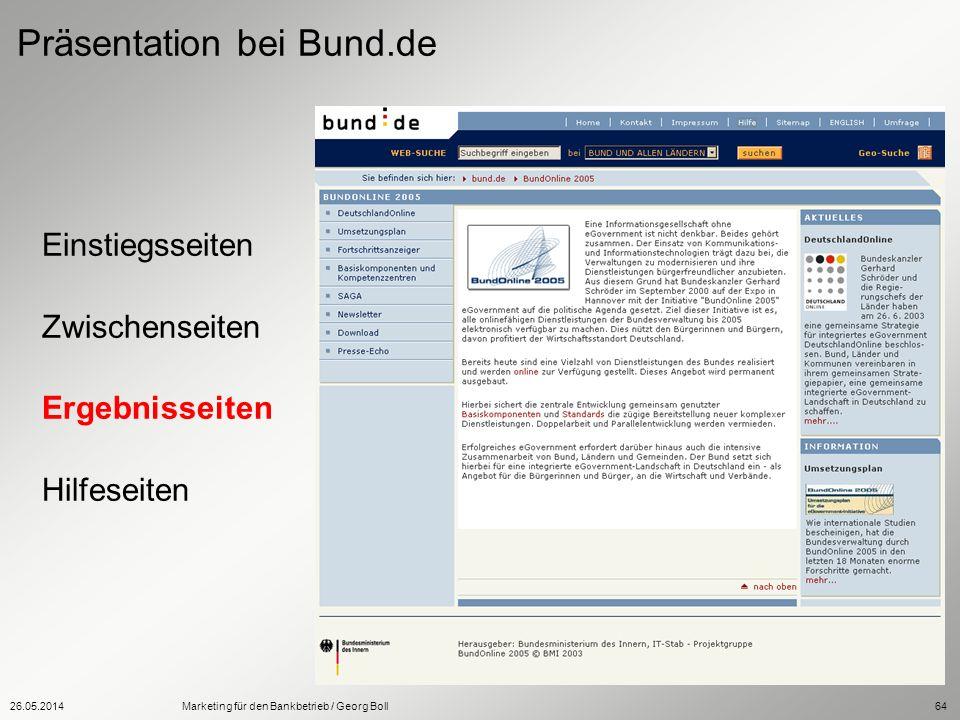 Präsentation bei Bund.de