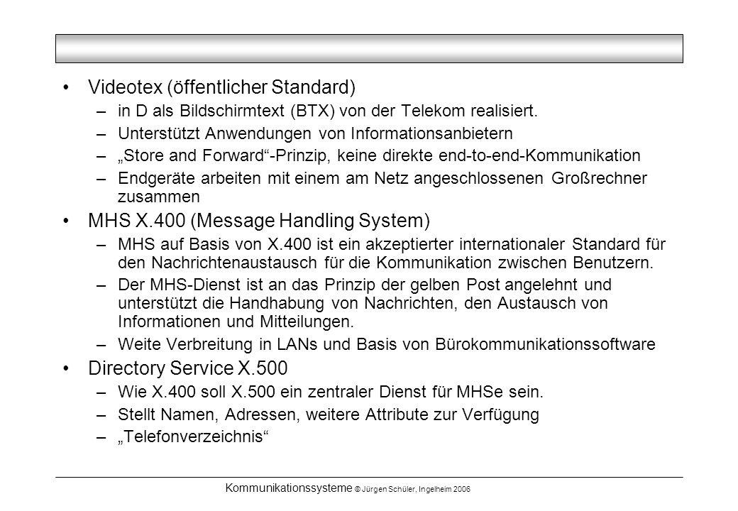 Kommunikationssysteme © Jürgen Schüler, Ingelheim 2006
