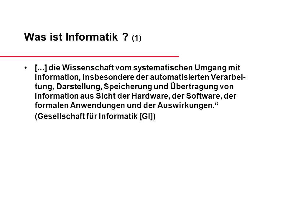 Was ist Informatik (1)