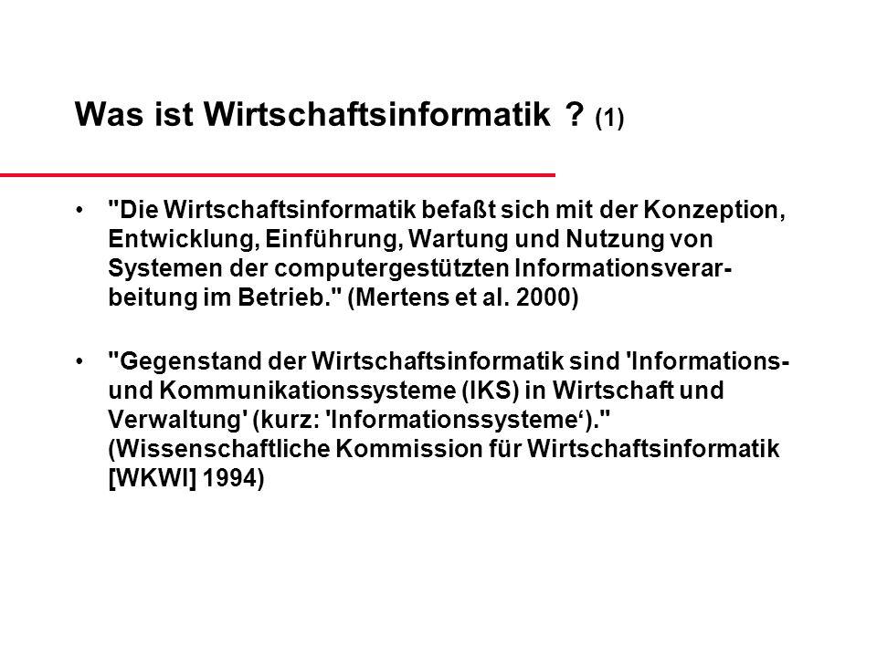 Was ist Wirtschaftsinformatik (1)