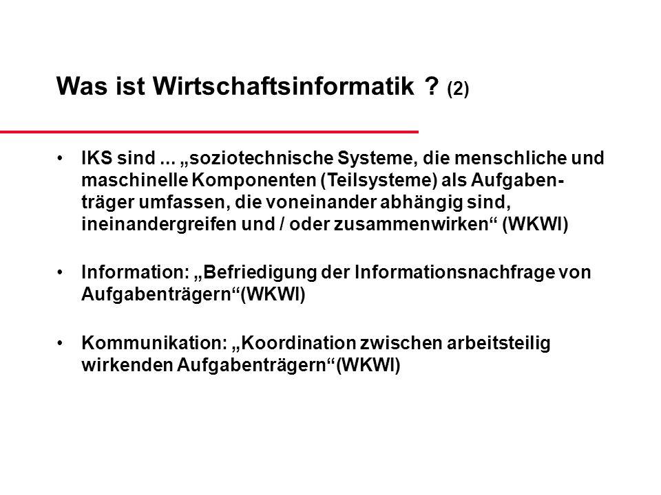 Was ist Wirtschaftsinformatik (2)