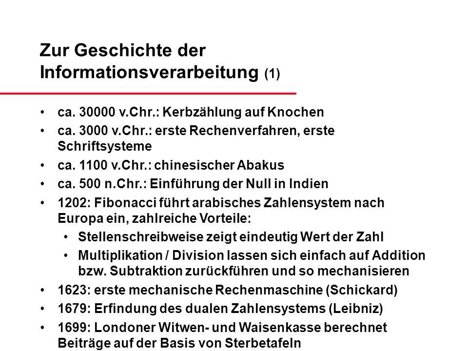 Zur Geschichte der Informationsverarbeitung (1)