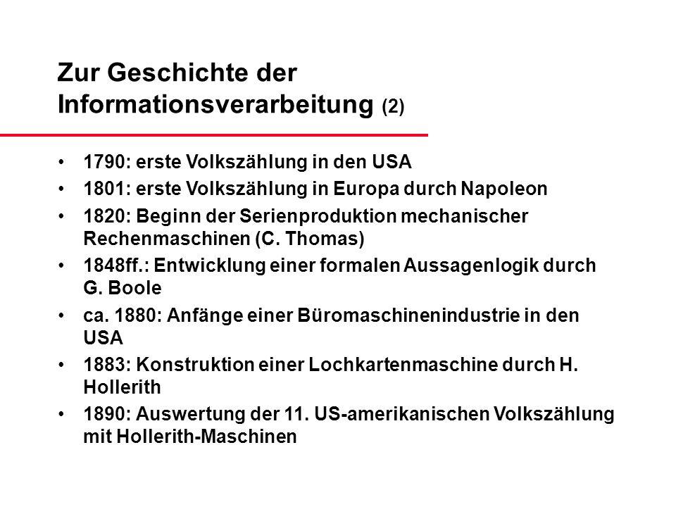 Zur Geschichte der Informationsverarbeitung (2)