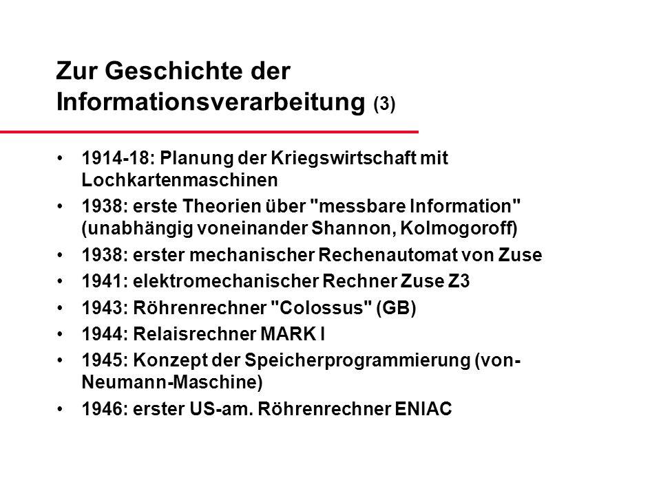 Zur Geschichte der Informationsverarbeitung (3)