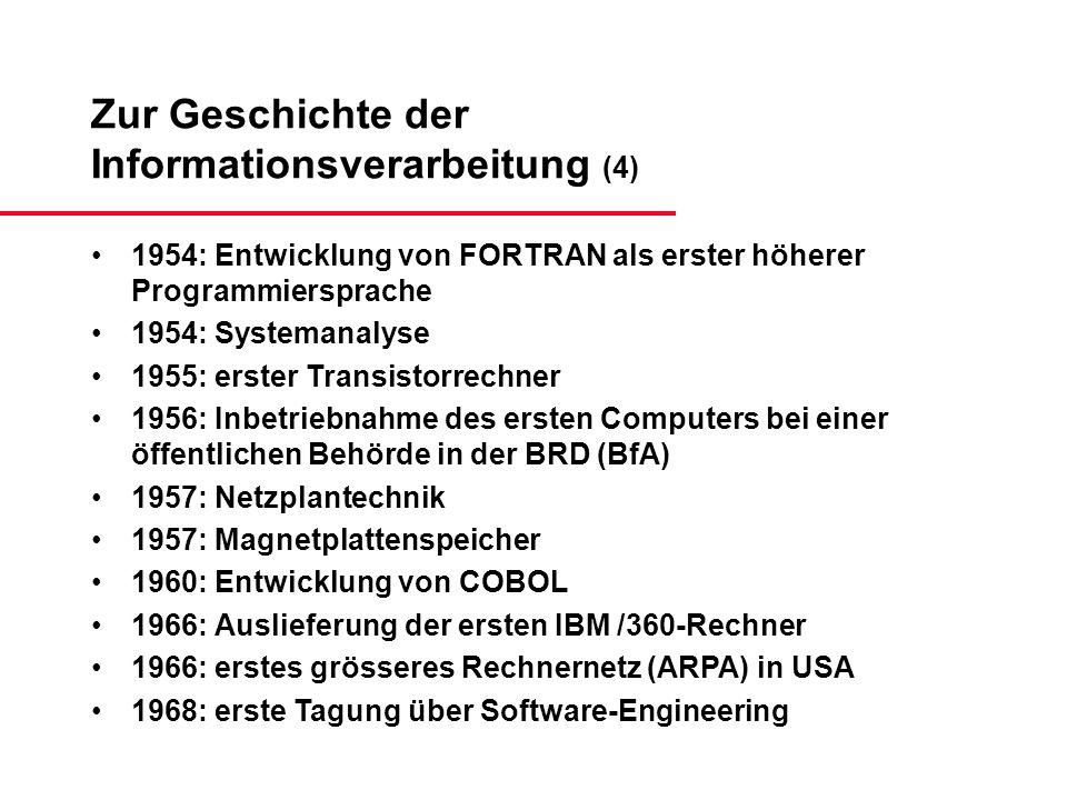 Zur Geschichte der Informationsverarbeitung (4)