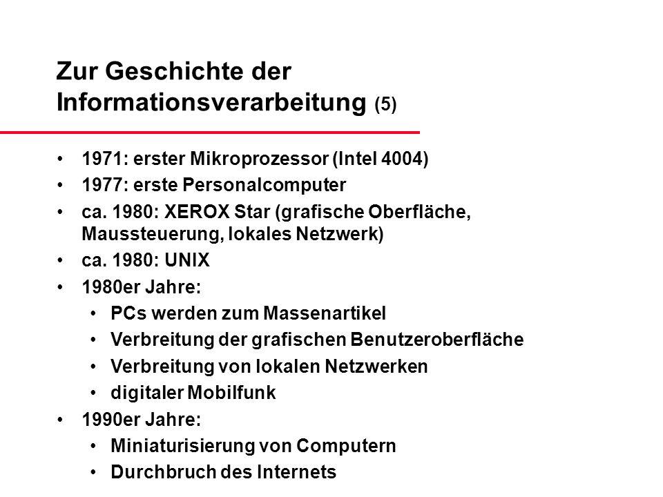 Zur Geschichte der Informationsverarbeitung (5)