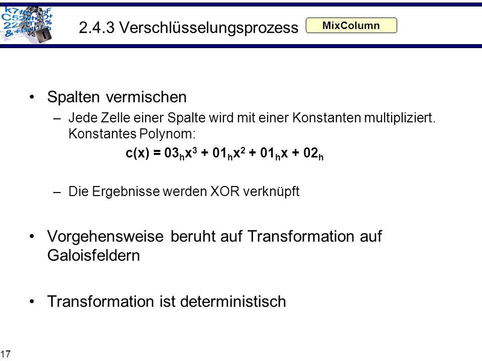 2.4.3 Verschlüsselungsprozess