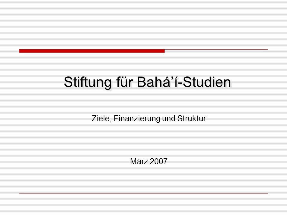 Stiftung für Bahá'í-Studien
