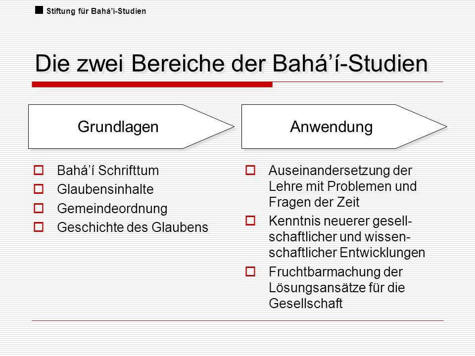 Die zwei Bereiche der Bahá'í-Studien