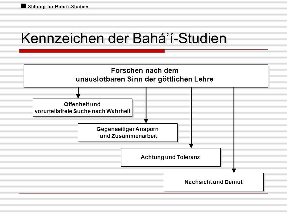 Kennzeichen der Bahá'í-Studien