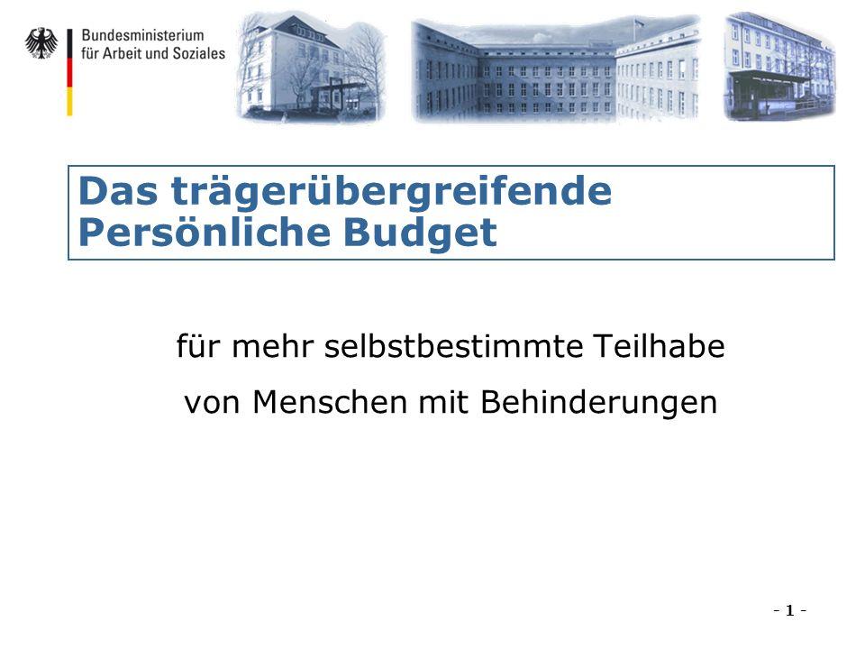 Das trägerübergreifende Persönliche Budget